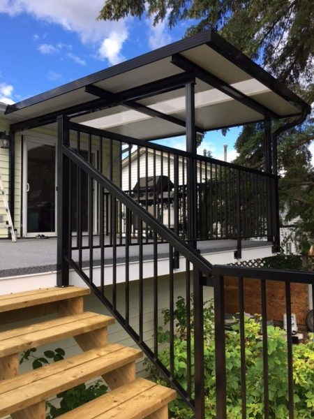 Aluminum and Glass Deck Cover