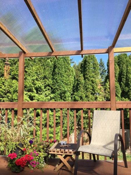 Polycarbonate Deck Roof